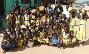 gallery HCI host basketball clinic with Wesley Girls Basic School